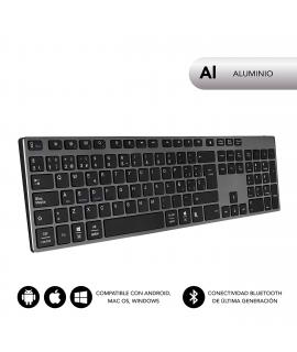 Subblim teclado Advance Extended Bluetooth gris