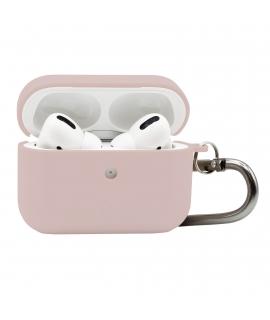 Puro funda biodegradable Apple Airpods Pro con mosqueton rosa