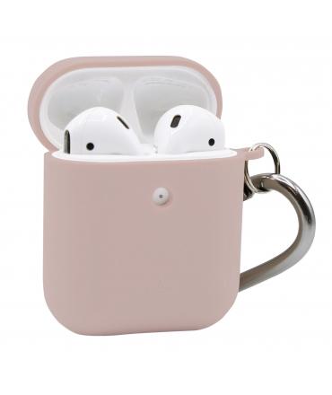 Puro funda biodegradable Apple Airpods con mosqueton rosa