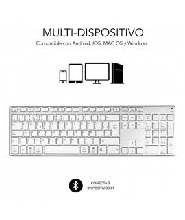 Subblim teclado Advance Extended Bluetooth plata