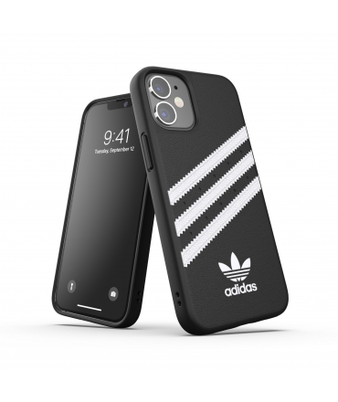 Adidas carcasa 3 rayas Samba Apple iPhone 12 mini negra/blanca