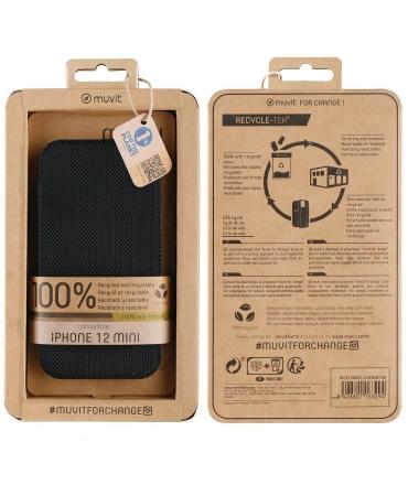 muvit for change funda Folio Apple iPhone 12 Mini negra