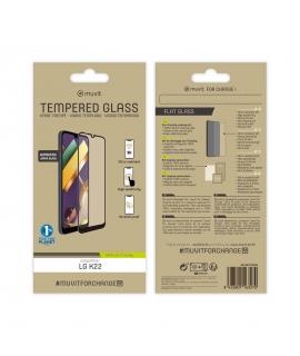 muvit for change protector pantalla LG K22 vidrio templado plano marco negro