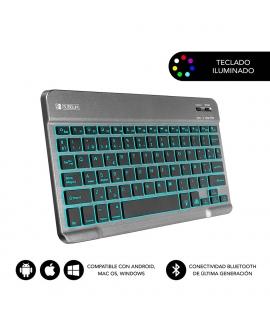 Subblim Smart Backlit teclado Bluetooth teclas iluminadas gris