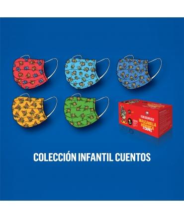 Kukuxumusu Caja 50 Mascarillas Higiénicas Infantiles Colección Cuentos caja roja