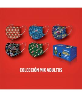 Kukuxumusu Caja 50 Mascarillas Higiénicas Adultos Colección Mix caja azul