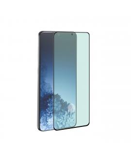 Tiger protector pantalla Samsung Galaxy S21 5G vidrio templado curvo case friendly marco negro anti bacteria
