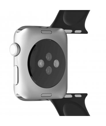 Puro pack 3 correas silicona Apple watch 42-44mm S/M y M/L negro