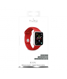 Puro pack 3 correas silicona Apple watch 42-44mm S/M y M/L rojo