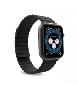 Puro correa Icon Link Apple watch 42-44mm M/L con cierre magnético negra
