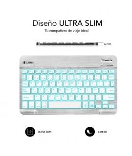 Subblim Smart Backlit teclado Bluetooth plata