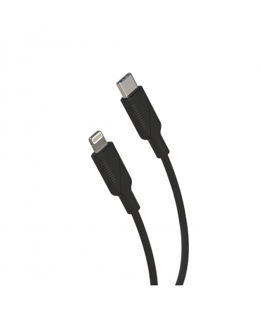 muvit for change pack cargador coche Tipo C PD 20W + cable tipo C a lightning 2.4A 1m negro