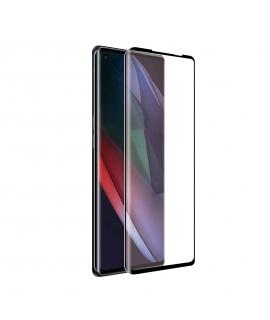 muvit for change protector pantalla Oppo Find X3 Neo 5G vidrio templado curvo case friendly marco negro