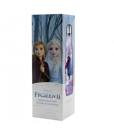 Puro Disney Frozen botella de acero inoxidable 500ml rosa