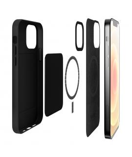 Puro carcasa piel Skymag Apple iPhone 12/12 Pro negra