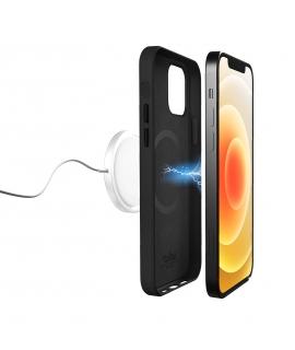 Puro carcasa piel Skymag Apple iPhone 12/12 Pro Max negra