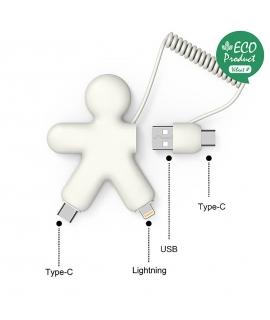 Xoopar Buddy adaptador multi conector ecológico blanco