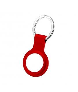 Puro llavero Apple Airtag silicona rojo