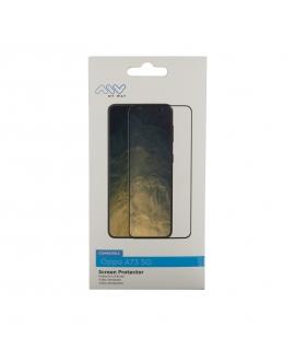 Myway protector pantalla Oppo A73 5G vidrio templado plano marco negro