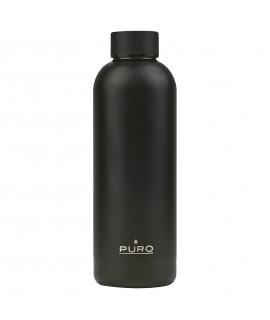 Puro H&C botella de acero inoxidable doble pared 500ml negra