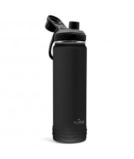 Puro Outdoor botella de acero inoxidable doble pared 750ml negra