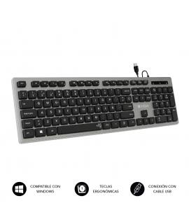 Subblim Ergo teclado ergonómico y silencioso gris
