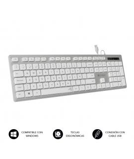 Subblim Ergo teclado ergonómico y silencioso plata