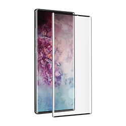 muvit protector pantalla Samsung Galaxy Note 10 Plus/10 Plus 5g vidrio templado curvo case friendly marco negro